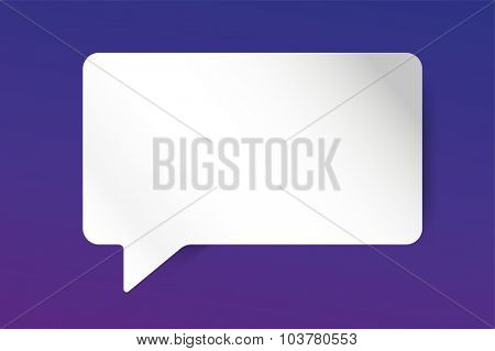 Quote bubble vector blank template. Quote bubble icon. Empty bubble template. Quote design, quoting box, text bubble sign, paper information quote template. Quote form. Bubble template set. White