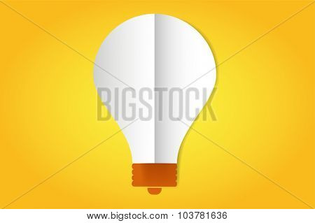 Bulb lamp flat style isolated. Glowing glass lamp with shine color. Lamp vector, lamp silhouette, lamp isolated, lamp vector bulb, lamp icon. Creative idea, concept, brainstorm