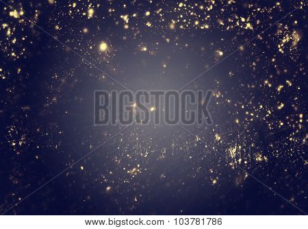 Abstract Christmas  Background - Golden Lights, Flash , Night City, Lens Flare.