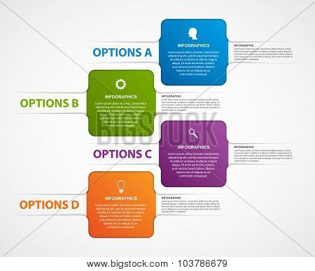 Abstract Business Options Infographics Template.