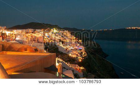 Evening View Of Santorini