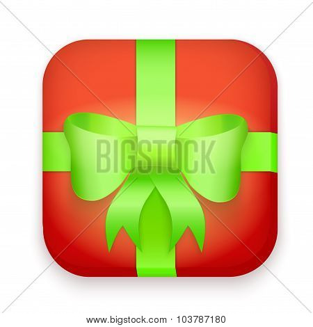 Icon of gift boxes with bow and ribbon.