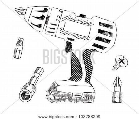 Screwdriver And Bits