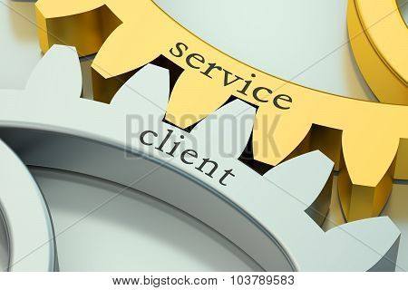 Service Client Concept On The Gearwheels