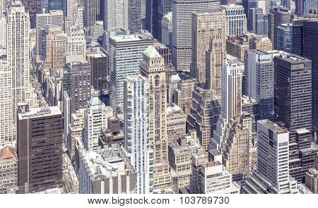 Aerial View Of Manhattan, New York, Usa