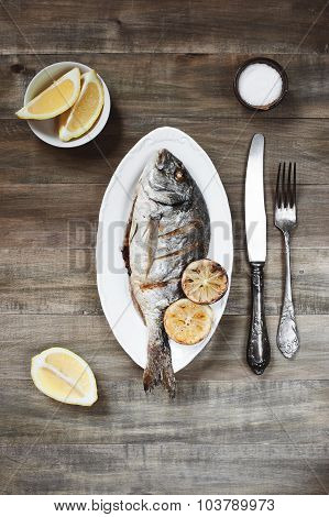 Cooked Fish On The Plate