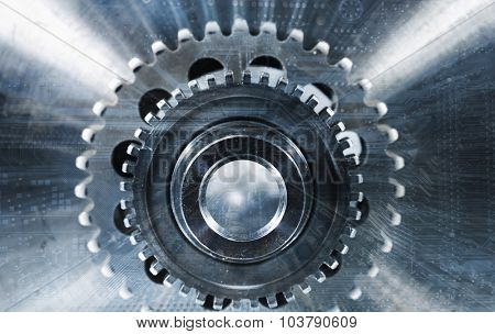 computerized cogwheels and gear parts, titanium aerospace industry