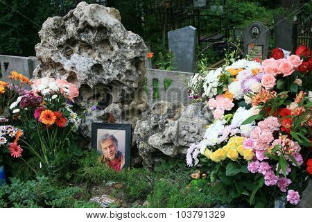The grave of Russian Director animator Alexander Tatarsky