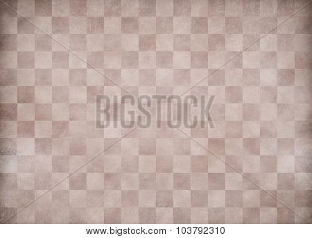 Beige grunge checkered paper background