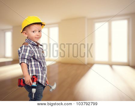little builder and 3d house indoor