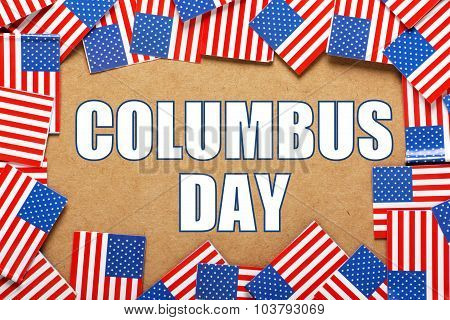 Columbus Day Flags