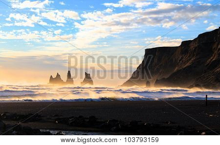 Reynisdranger in Vik, Iceland