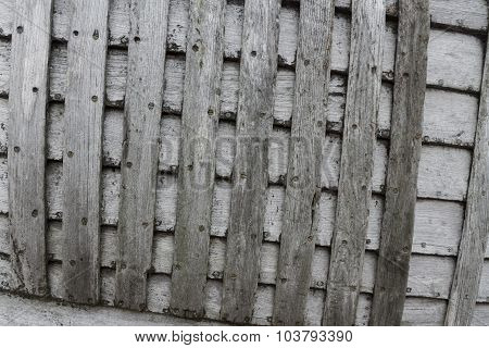 Criss-cross Old Grey Planks