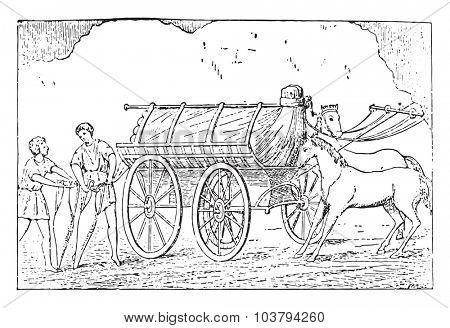 Further transport, vintage engraved illustration.