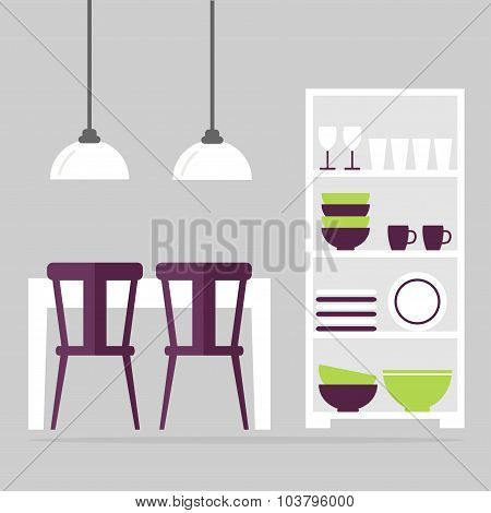 Dining room interior design.