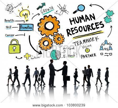 Human Resources Employment Job Teamwork Business Handshake Concept