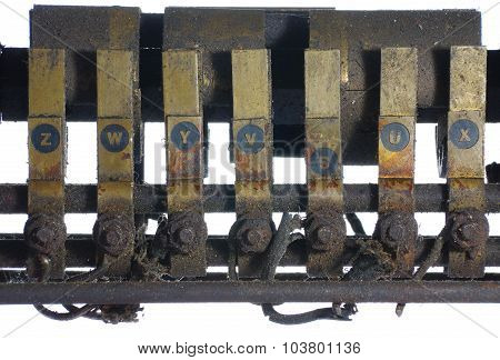 old electrical components switch
