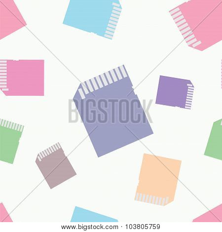 sd card doodle seamless pattern background