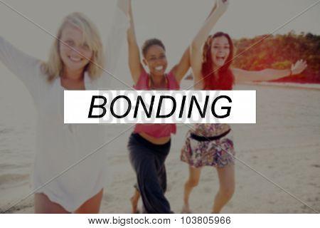 Summer Beach Friendship Holiday Vacation Bonding Concept