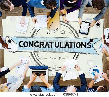 Congratulations Achievement Celebration Admiration Concept