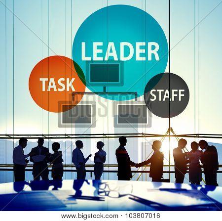 Leader Leadership Manager Task Staff Concept