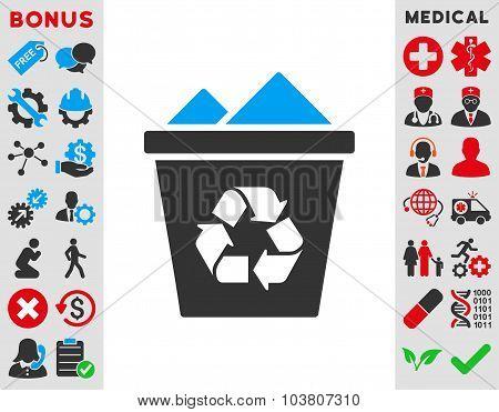 Full Recycle Bin Icon