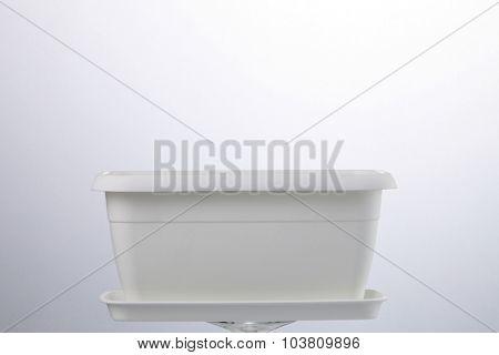 rectangular flower pot on the white background
