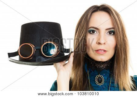 Steampunk Girl With Hat.