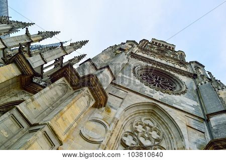 Gothic Catholic cathedral in the city of Orleans, France