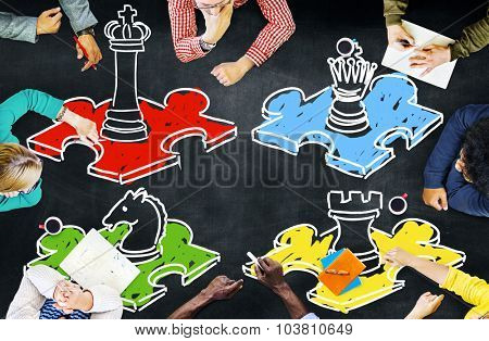 Chess Leisure Game Tactics Strategy Board Game COncept