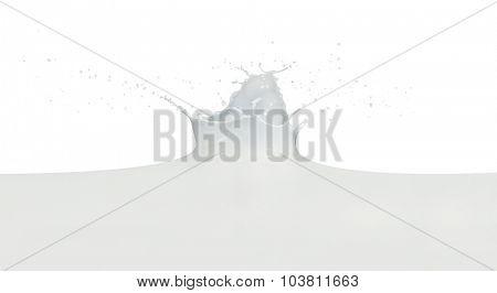 splashing milk isolated on white background