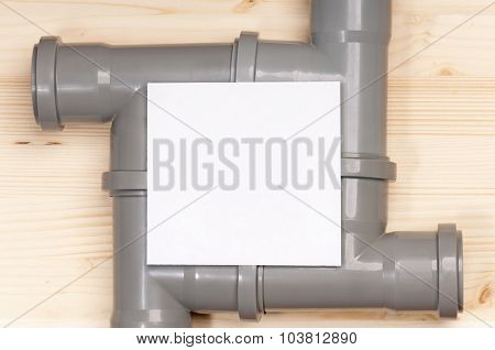 Fittings for plastic pipes with blank for text