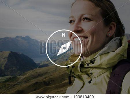 Travel Compass Navigator Journey Adventure Concept
