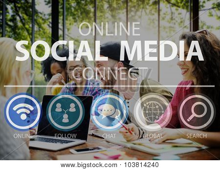 Online Social Media Networking Connect Internet Concept