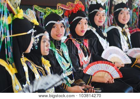 Girls In Their Traditional Costume