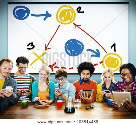 Planning Strategy Thinking Tactic Step Shortcut Concept