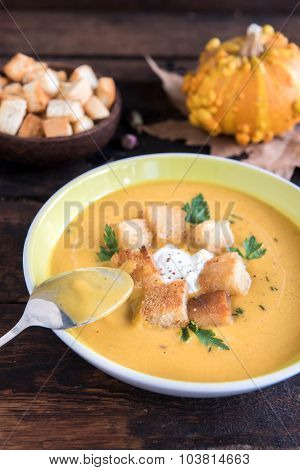 Pumpkin Soup In The Plate