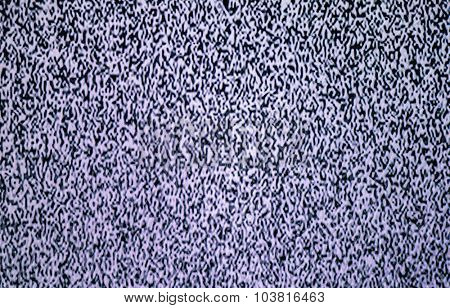 TV noise from a real television
