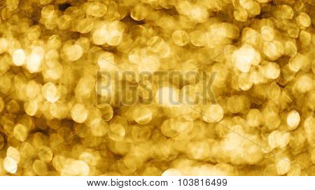 golden bokeh for background
