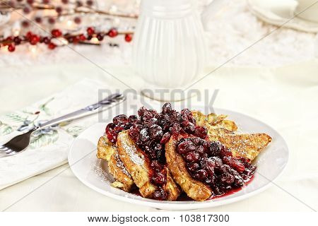 Cranberries Over French Toast