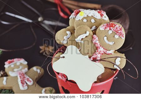 Gingerbread Cookies And Blank Card