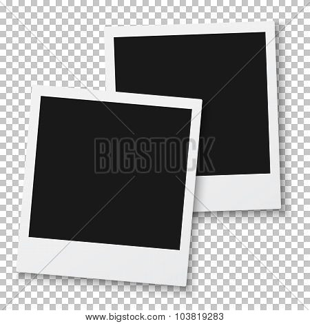 Old Fashion Vector Photo Frames Template for your Presentation,