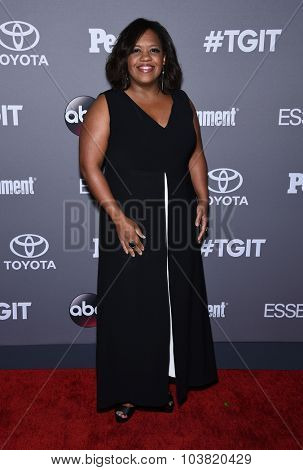 LOS ANGELES - SEP 26:  Chandra Wilson arrives to the TGIT Premiere Red Carpet Event  on September 26, 2015 in Hollywood, CA.
