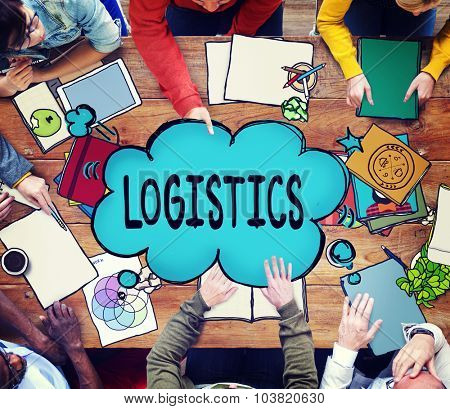 Export Import Logistic Transportation Concept