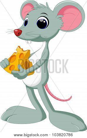 Funny cartoon mouse