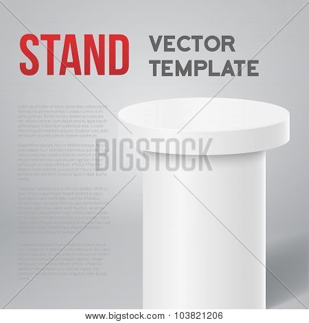 Photorealistic Vector Speaker Stand Tribune Template Isolated Mo