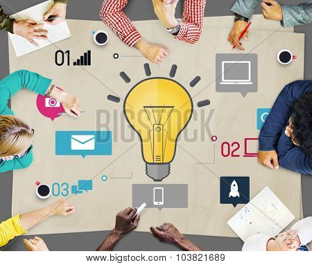 Ideas Innovation Creativity Knowledge Inspiration Vision Concept