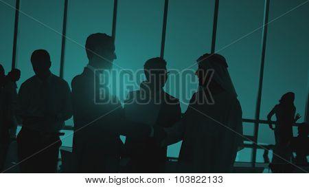 Group People Handshake Global Business Concept