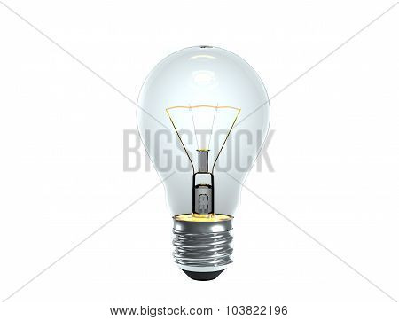 Turn On Tungsten Light Bulb