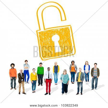 Password Privacy Log in Security Lock Guard Concept